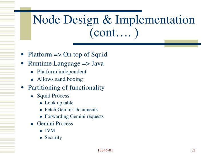 Node Design & Implementation