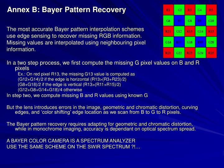 Annex B: Bayer Pattern Recovery