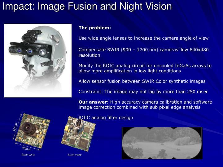 Impact: Image Fusion and Night Vision