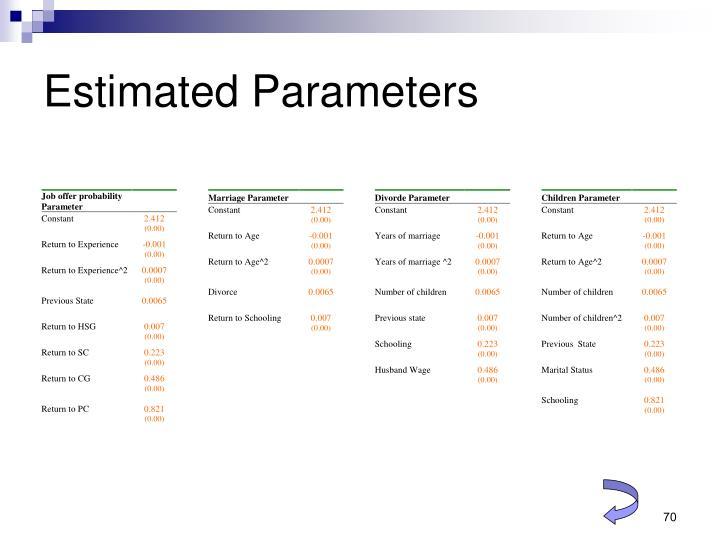 Estimated Parameters