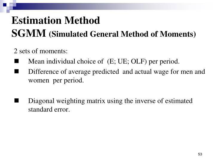Estimation Method