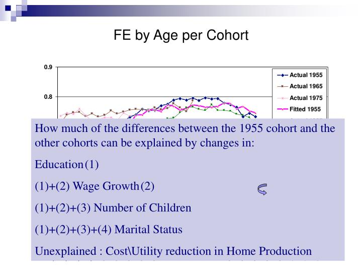 FE by Age per Cohort