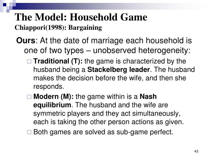 The Model: Household Game