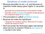 goodness of model continued