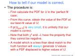 how to tell if our model is correct1