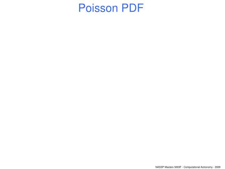 Poisson PDF