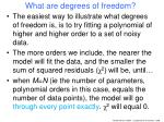 what are degrees of freedom