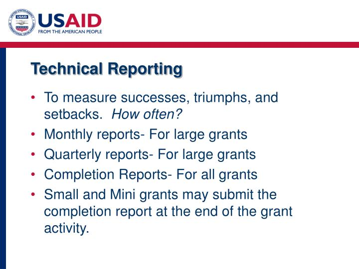 Technical Reporting