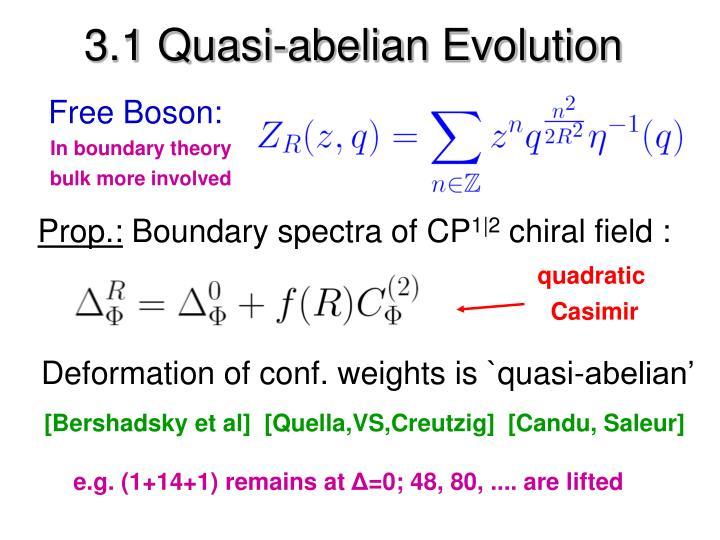 3.1 Quasi-abelian Evolution