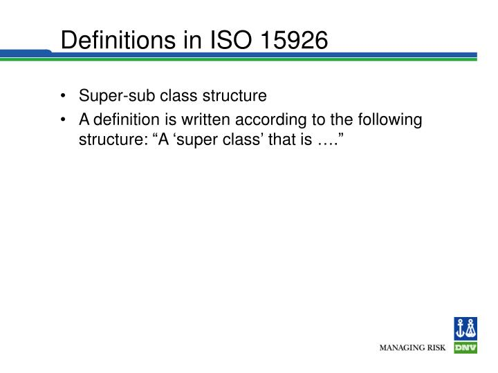Definitions in ISO 15926