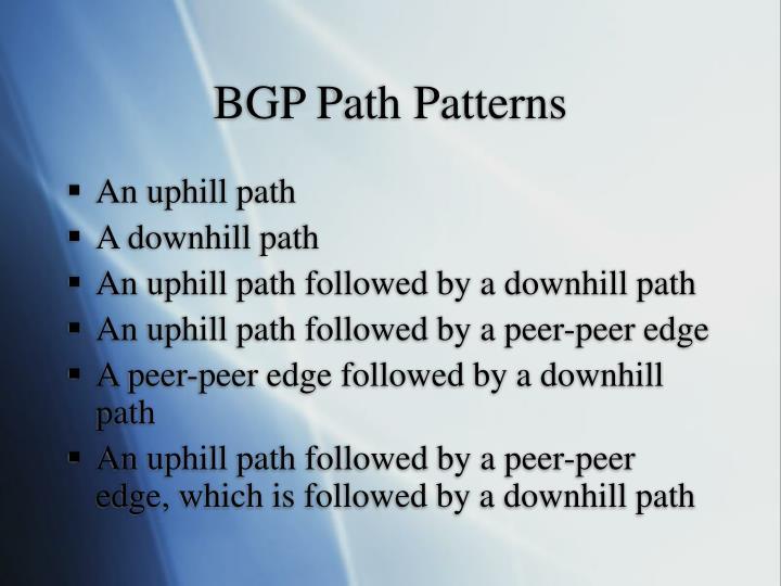 BGP Path Patterns