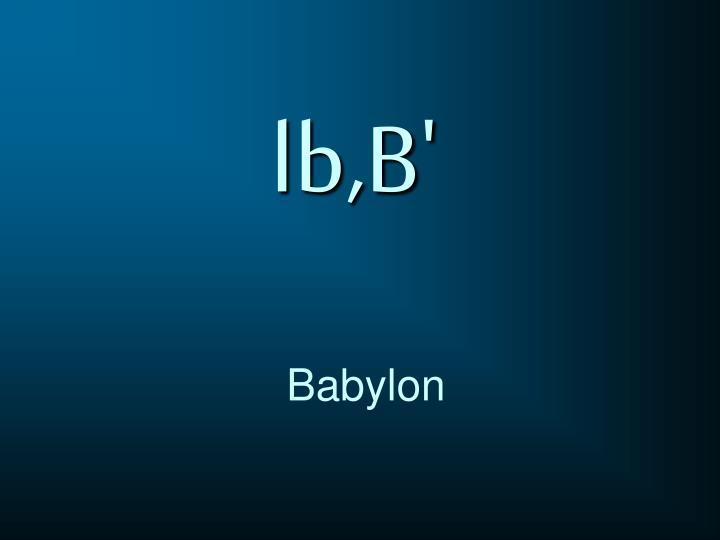 lb,B'