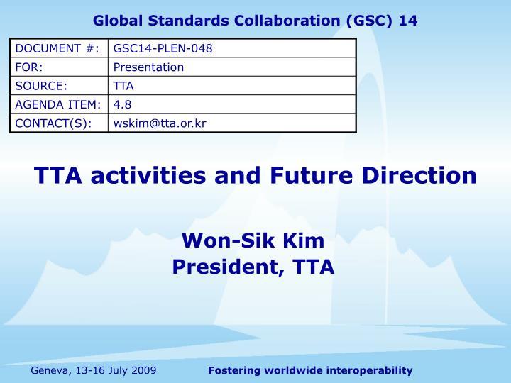 Global Standards Collaboration (GSC) 14