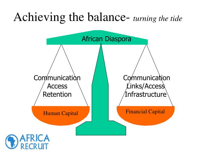 Achieving the balance-