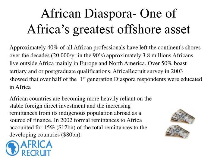 African Diaspora- One of Africa's greatest offshore asset