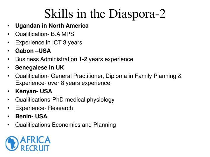 Skills in the Diaspora-2
