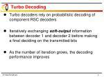 turbo decoding