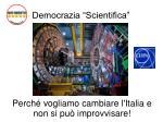 democrazia scientifica