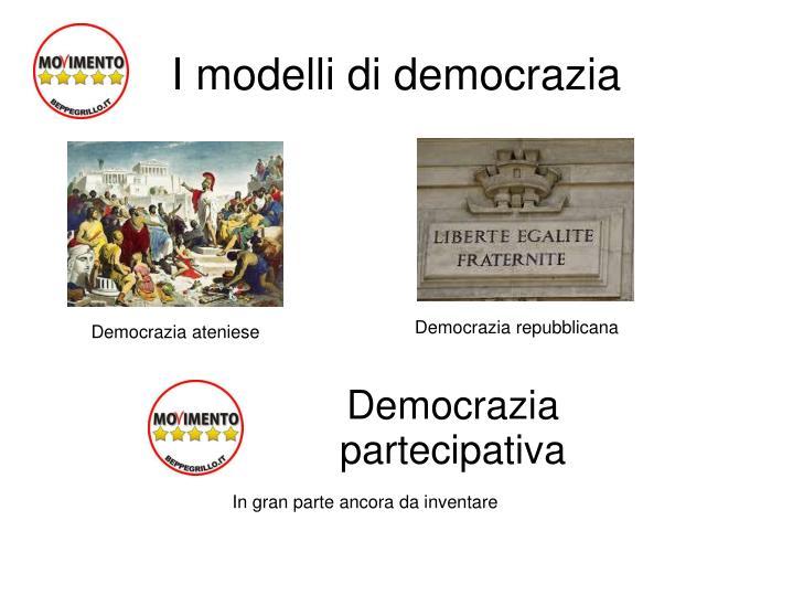 I modelli di democrazia