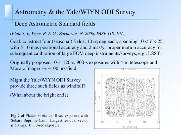 Astrometry & the Yale/WIYN ODI Survey