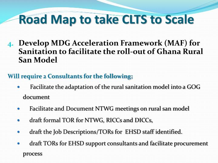 Road Map to take CLTS to Scale