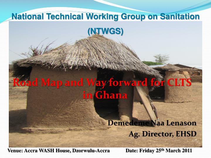 National Technical Working Group on Sanitation (NTWGS)