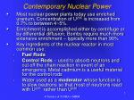 contemporary nuclear power