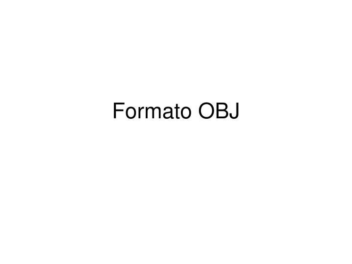 Formato OBJ