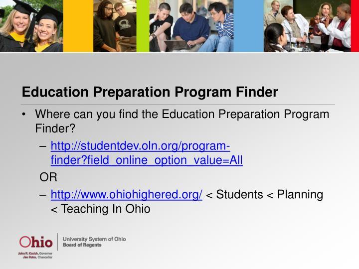 Education Preparation Program Finder