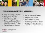 program committee members