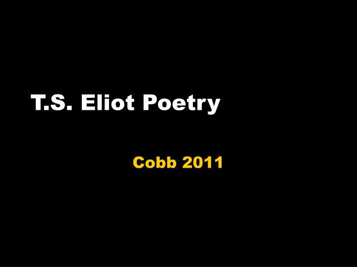 t s eliot poetry