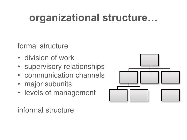 organizational structure…