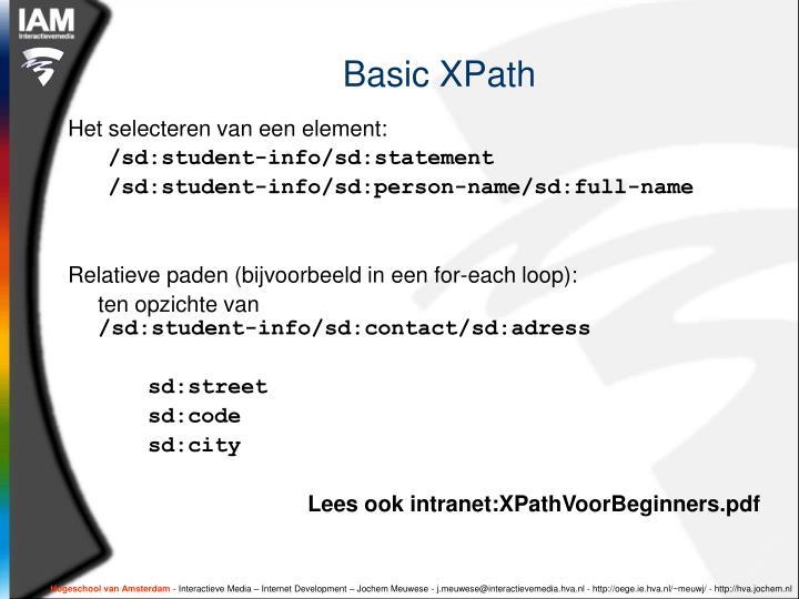 Basic XPath