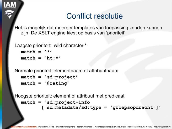 Conflict resolutie
