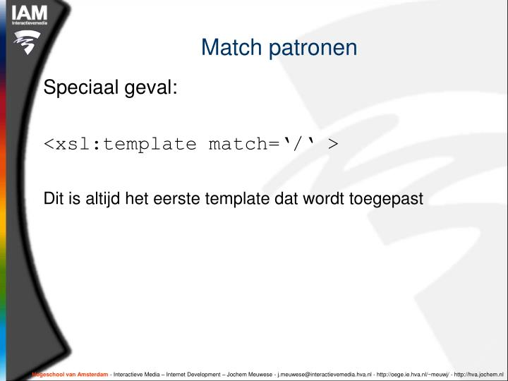 Match patronen