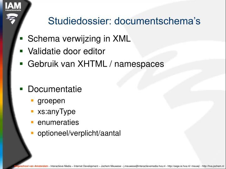 Studiedossier: documentschema's