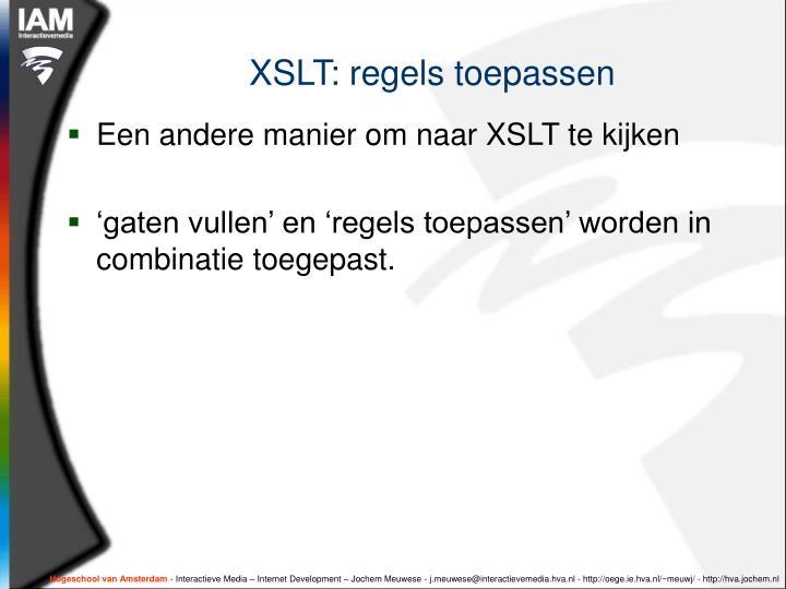 XSLT: regels toepassen