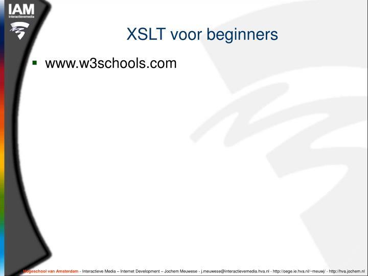 XSLT voor beginners