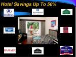 hotel savings up to 50