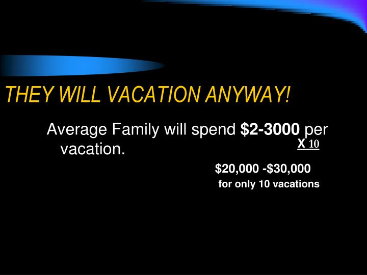 THEY WILL VACATION ANYWAY!
