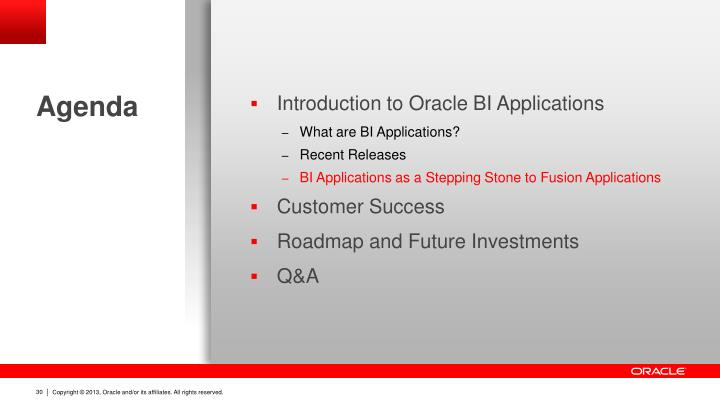 Introduction to Oracle BI Applications