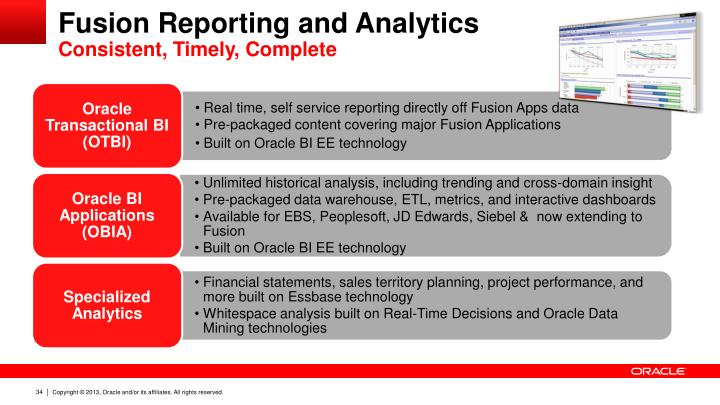Fusion Reporting and Analytics