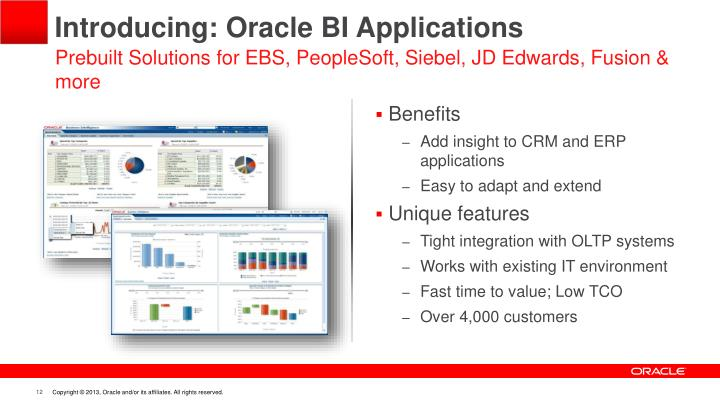 Introducing: Oracle BI Applications