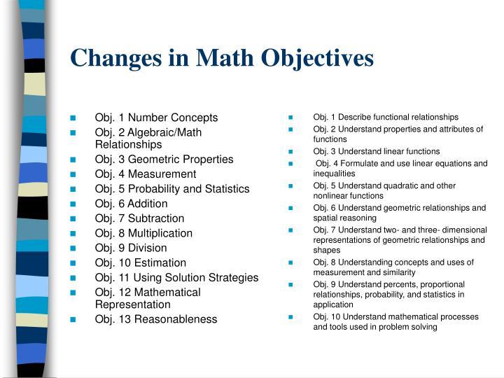 Obj. 1 Number Concepts