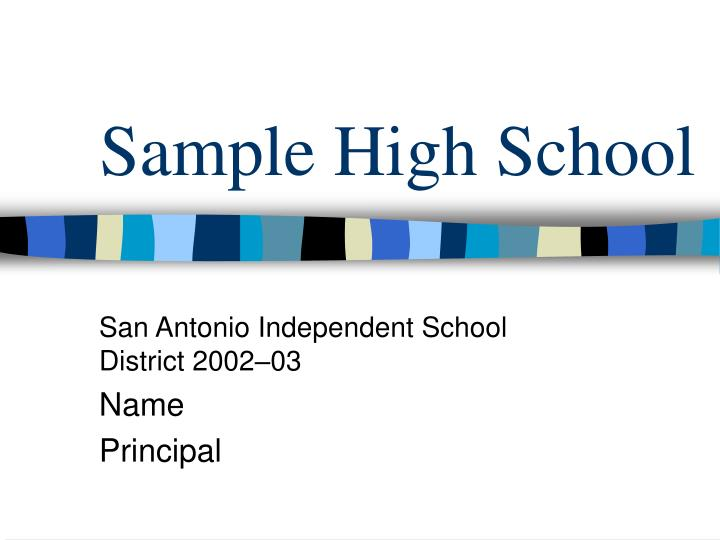 sample high school