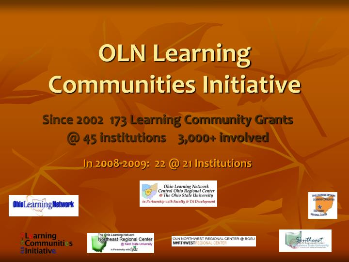 OLN Learning Communities Initiative
