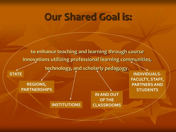 Our Shared Goal is: