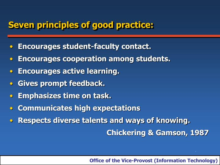 Seven principles of good practice: