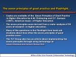 the seven principles of good practice and flashlight