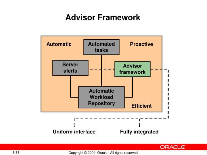Advisor Framework